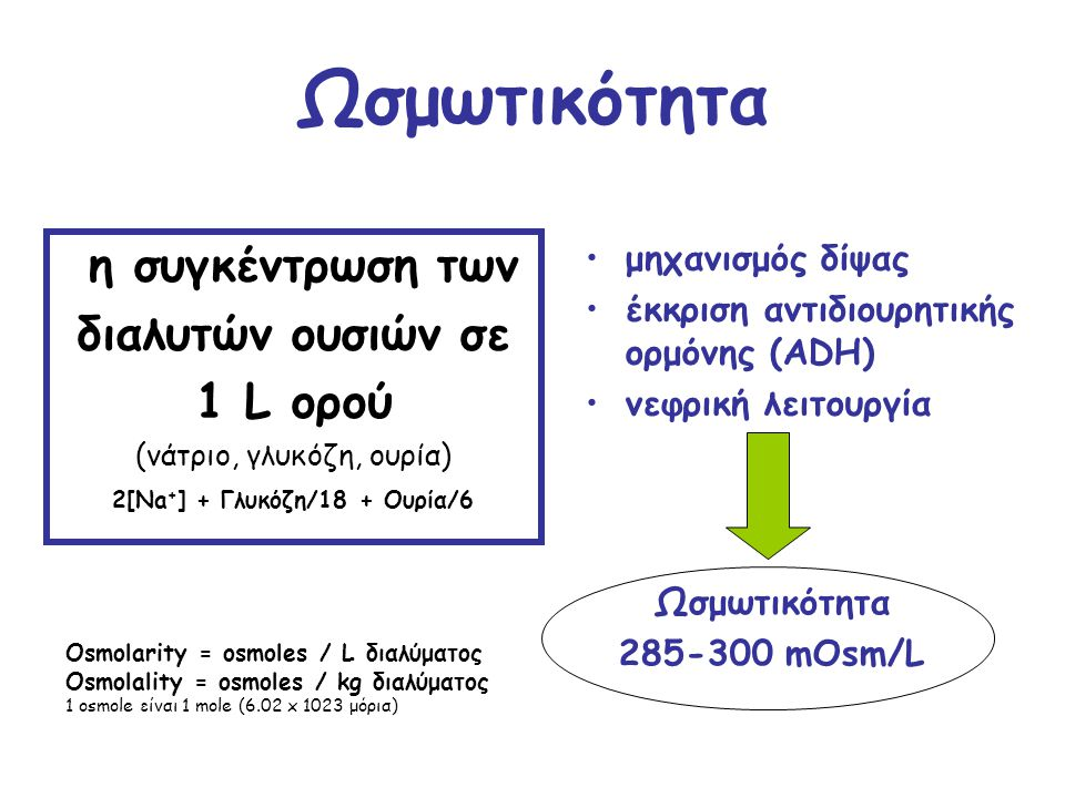 2[Na+] + Γλυκόζη/18 + Ουρία/6